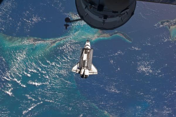 Última aproximación del Atlantis a la ISS